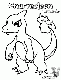 Small Picture Pokemon Coloring Pages Charmander In Charmander Coloring Page