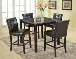 table 4 chairs. roundhill furniture 5-piece praia artificial dark marble top pub dining table 4 chairs set