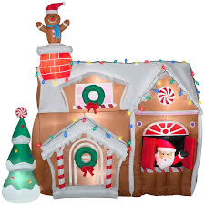 Gingerbread Outdoor Lights Gemmy Inflatable Animated Airblown Gingerbread House Outdoor