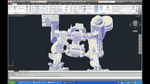 Cad Robot Design How To Make Robot In Autocad Youtube