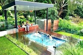 in ground above pool with hot tub design ideas designs images idea