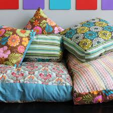 Colorful Jumbo Floor Pillows