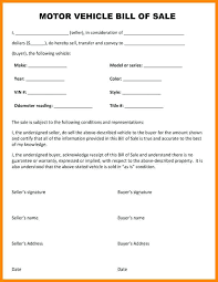 Free Sample Of Bill Of Sale Forms Attorney Free Motor Bill Sale Form Used Vehicle Of Template