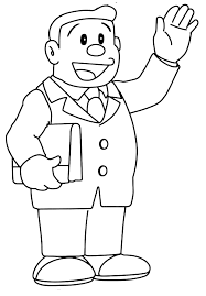 This application is able to enhance children's creativity in coloring various characters in doraemon. Doraemon Nobita S Father Greets