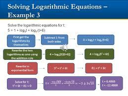 18 solving logarithmic