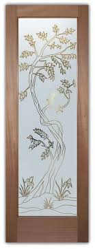 home ideas etched glass entry doors