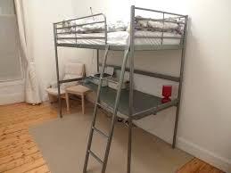 svrta loft bed frame with desk top beds svarta desktop