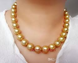 fine pearls jewelry aaaaa 1712 13mm real natural round south sea deep golden pearl necklace 14k golden pearl necklace south sea pearl necklace pearl