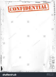 Confidential Document Template Stock Illustration 95110603