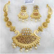 Gold Jadtar Set Design Buy Quality Gold Antique Jadtar Necklace Set Rhj 5235 In