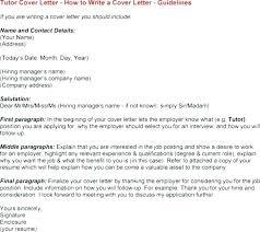 Teaching Cover Letter Middle School Tutor Cover Letter Sample Resume