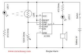 security alarm circuit diagram ireleast info burglar alarm mini projects electronics circuit wiring circuit