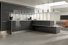 gray gloss kitchen cabinets cabinet designs light grey doors about dark high with kitchens remodeling island
