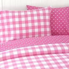 pink polka dot bedding gingham and bed set