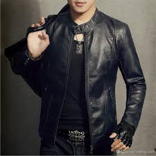 moto leather jacket mens. 2017 new fashion motorcycle biker leather jacket men casual male business moto coats jaqueta de couro pu bomber online mens jackets spring