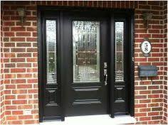black front door with sidelights27 Pictures of Black Front Doors Front Entry  Black door
