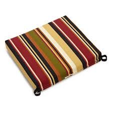 blazing needles outdoor all weather patio chair cushion 20 x 19 in com