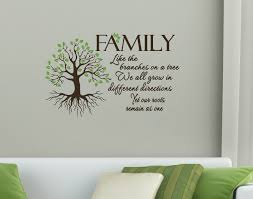 family quote like branches on a tree wall art vinyl decal chocolate brown on tree wall art decals vinyl sticker with family quote like branches on a tree wall art vinyl decal
