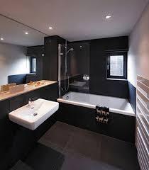 black bathroom. Stylish Black Bathroom