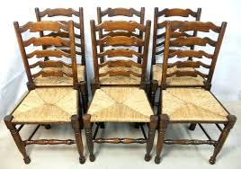 unfinished ladder back chairs old ladder back chairs impressive of eight elm rush seat dining chairs