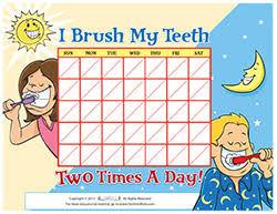 Teeth Brushing Chart Motivational Charts For Children On Brushing Teeth
