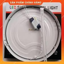 Đèn LED Ốp Trần 24w Tròn/Vuông Siêu Sáng - Tiết Kiệm Điện Năng [ Đèn LED Ốp  Nổi ], Giá tháng 10/2020