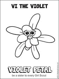 Small Picture Daisy Violet Petal Be a Sister Coloring Page