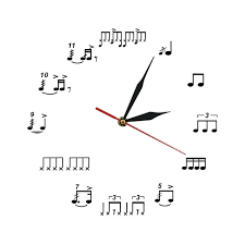 wall art with clock drum notes rudiments wall clock acrylic time clock notes wall art wall art with clock