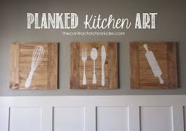 Planked Kitchen Art - Feature by The Contractor Chronicles