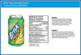 iced tea brisk tea lemonade fusion