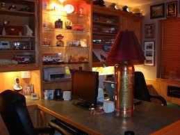 office man cave ideas. Maybe Your Man-cave Is Really A Man-office? I Like This Idea Quite Bit Over FF Man Cave. Check Out The Extinguisher Lamp! Office Cave Ideas F