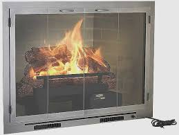 wood burning fireplace doors with blower best fireplace and ideas of fireplace blower