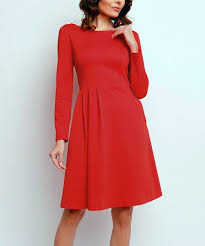 Naoko Size Chart Naoko Red V Back Fit Flare Dress Zulily