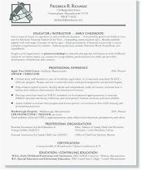 Resume Templates Education Adorable Child Care Resume Sample Professional Template Resume For Child Care