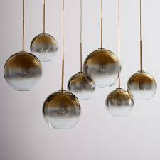 sculptural glass globe 7 light chandelier mixed metallic ombre west elm