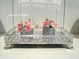 Decorative Metal Serving Trays 6060cm rectangle decorative metal serving tray decoration crystal 57