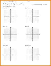 5 graph linear equations worksheet