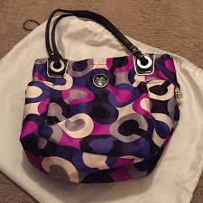 Gorgeous purple coach bag!