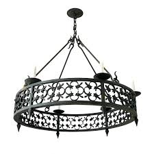 white wrought iron lighting capital fixture company black eight light