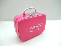mac make up uk zipper cosmetic bag pink