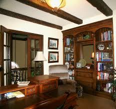 elegant home office desks furniture. Tidy Oak Bookshelves And Drawers In Elegant Home Office With Decoration Desk Grey Bookshe Decorating Desks Furniture