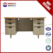 plastic office desk. Iron White Office Desk With 6 Drawers / Plastic Handles Metal Table Alibaba