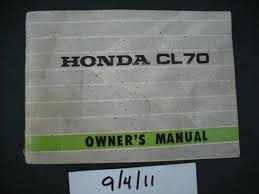 owners manuals and literature classic esemotorcycles honda cl70 k1 owners manual sku 1984