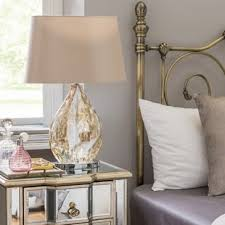bedside table lamps. Electroplated 58.5cm Bedside Table Lamp Lamps O