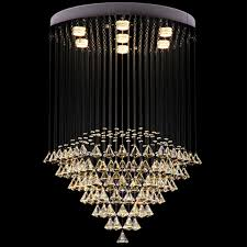 7 lights modern led crystal ceiling pendant light indoor chandeliers home hanging down lighting lamps fixtures