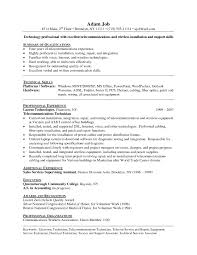 Electronic Technician Resume Examples Free Resume Templates