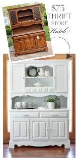 repurposed furniture store. dated thrift store hutch makeover from confessions of a serial doityourselfer repurposed furniture o