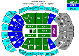 Sprint Center Seating Chart With Rows And Seat Numbers Elton John Sprint Center