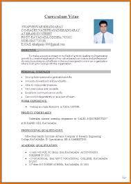 Resume Format Microsoft Word