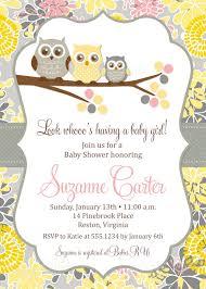 owl baby shower invitations three